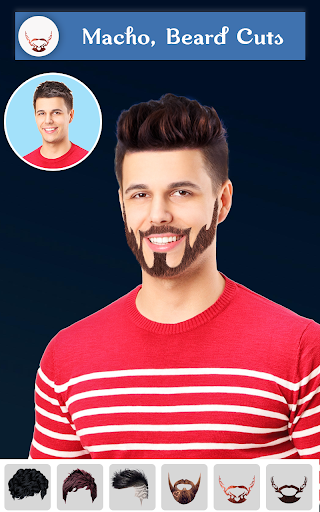 Hairy - Men Hairstyles Beard & Boys Photo Editor 5 تصوير الشاشة