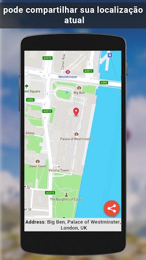 GPS satélite - viver terra mapas E voz navegação screenshot 5