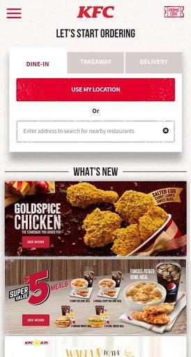 KFC Singapore screenshot 1