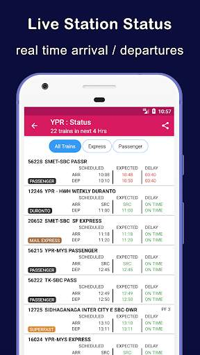 Indian Railway Train Status : Where is my Train screenshot 5