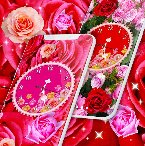 Rose Clock Live Wallpaper 🌹 4K Wallpapers Themes screenshot 3