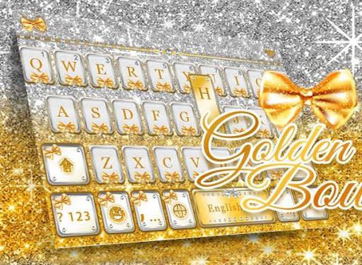 Golden Bow Keyboard Theme screenshot 5