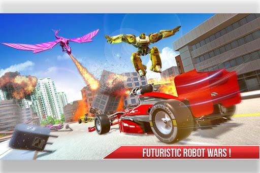 Formula Car Robot Transform - Flying Dragon Robot screenshot 6