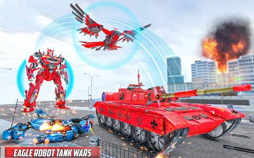 Tank Robot Game 2020 - Eagle Robot Car Games 3D screenshot 1