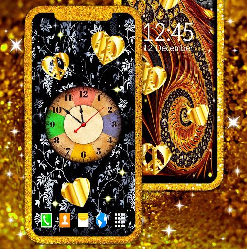 Gold Hearts 4K Wallpaper 💛 Golden live Wallpaper 2 تصوير الشاشة