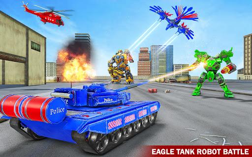 Tank Robot Game 2020 – Police Eagle Robot Car Game screenshot 1