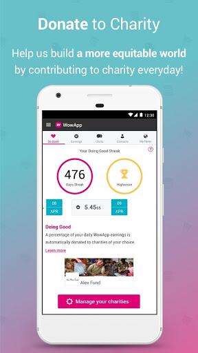 WowApp - Earn. Share. Do Good screenshot 4