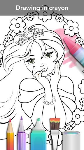 Princess coloring book screenshot 6
