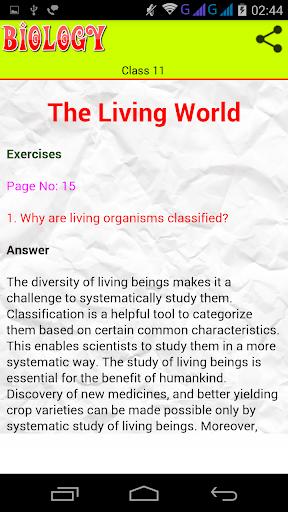 Class 11 Biology Solutions screenshot 2