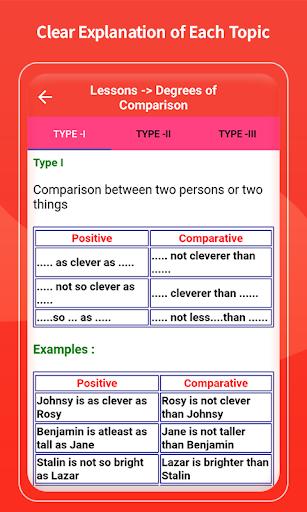 English Grammar Learning Free Offline Grammar Book screenshot 11