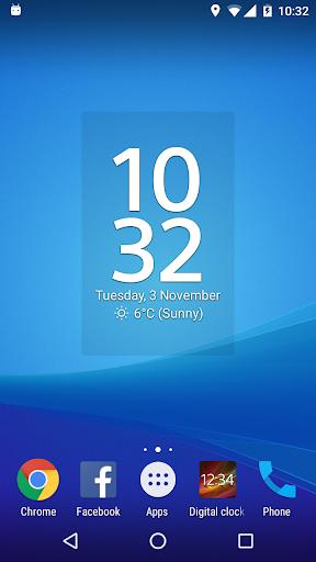 Digital Clock Widget Xperia screenshot 2