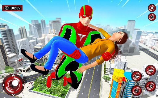 Superhero Light Robot Rescue: Speed Hero Games screenshot 1