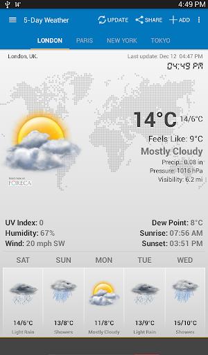 الطقس وويدجت الساعة لأندرويد - توقعات الأرصاد 7 تصوير الشاشة