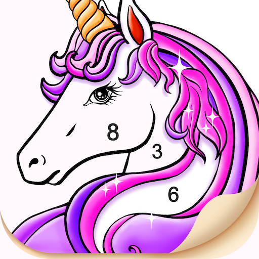 Tap Color- Color by Number Art Coloring Game أيقونة
