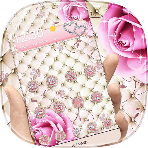 Pink Diamond Rose Theme icon