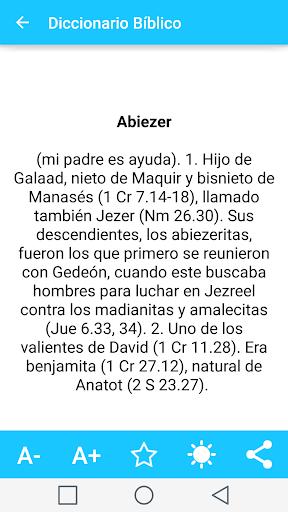 Spanish Bible Dictionary 5 تصوير الشاشة