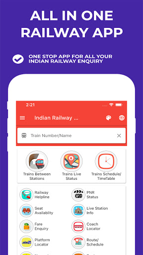 Indian Railway Timetable - Live train location screenshot 1