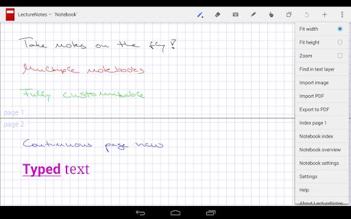 LectureNotes (Trial Version) screenshot 1