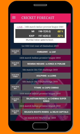 cricket forecast ( prediction, BBL ,BPL, IPL,PSL ) screenshot 7