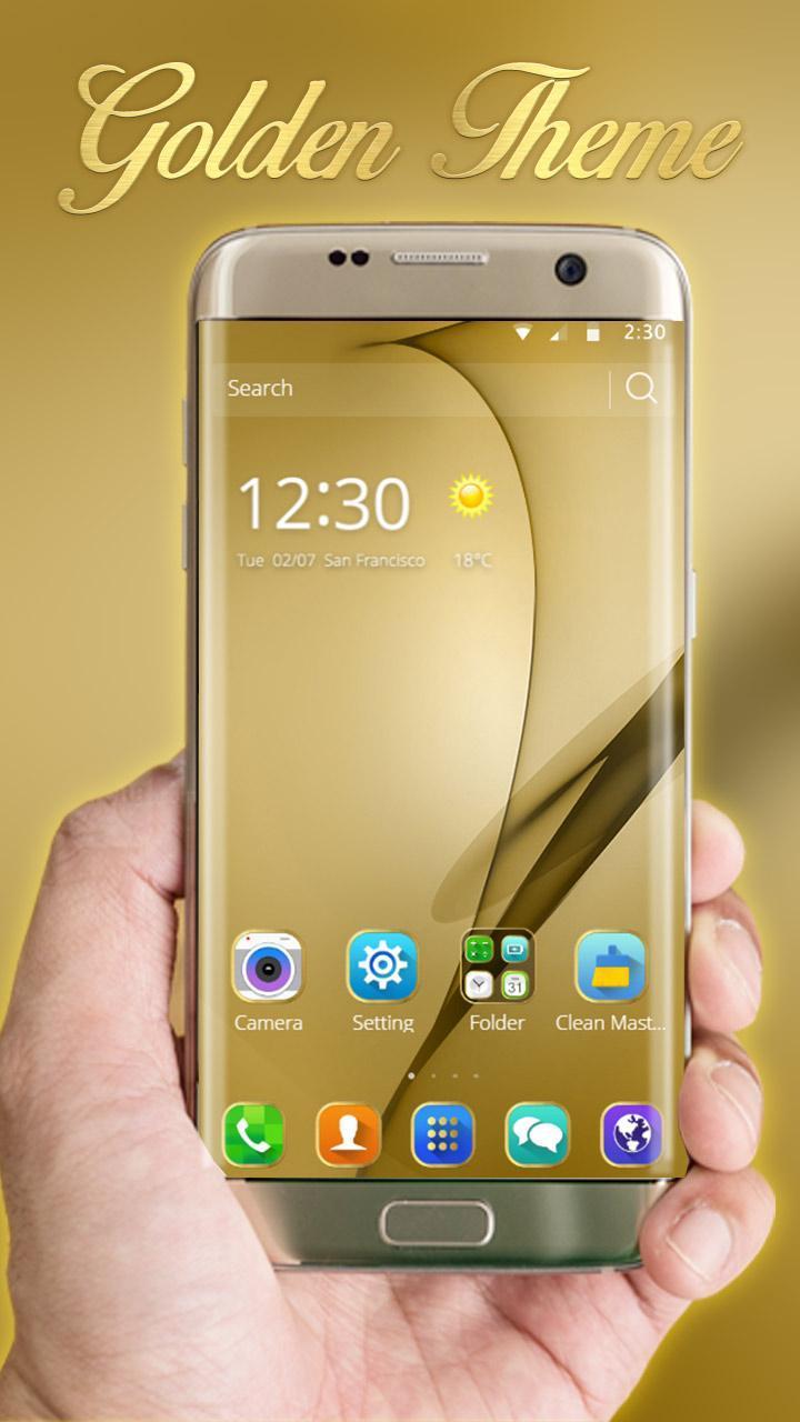 Gold Theme for Galaxy S8 Plus 2 تصوير الشاشة