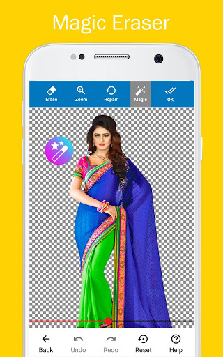Woman Fancy Saree Photo Suit Editor 3 تصوير الشاشة