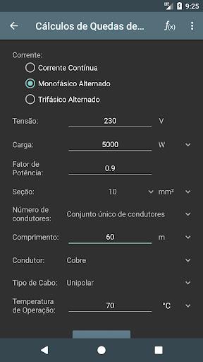 Cálculos Eléctricos screenshot 3