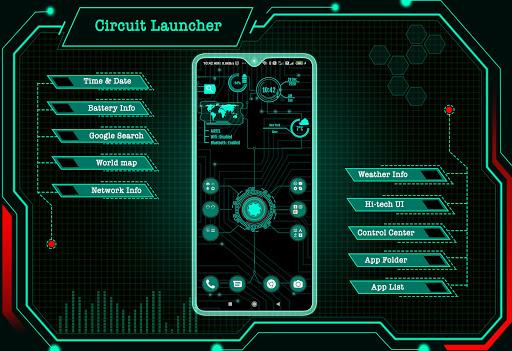 Circuit Launcher 2021 App lock, Hitech Wallpaper 1 تصوير الشاشة