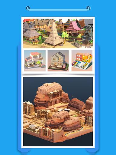 Pocket World 3D - Assemble models unique puzzle screenshot 12