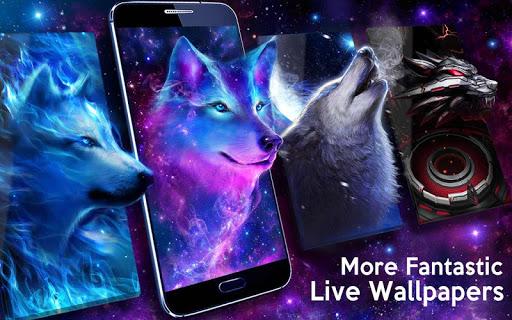 Night Sky Wolf Live Wallpaper screenshot 5