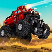 Blocky Cars - tanks war & robots on 9Apps