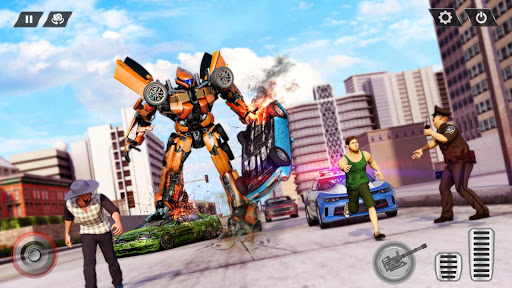 Real Limo Robot Car Transformation Games 2021 screenshot 2