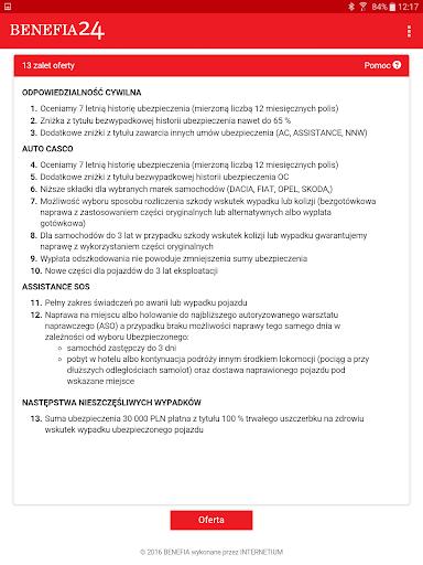 Ubezpieczenie OC AC Benefia 24 screenshot 10