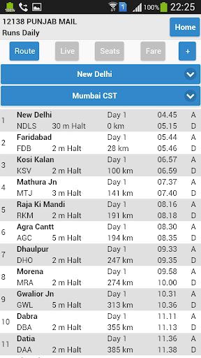 eRail.in Railways Train Time Table, Seats, Fare screenshot 2