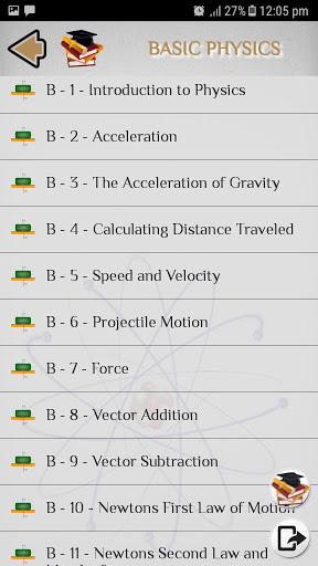 Physics - Tutorials - Lectures screenshot 6