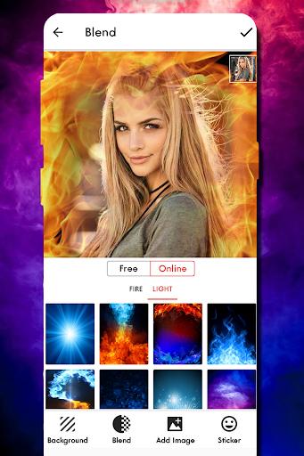 Fire Text Photo Frame screenshot 2