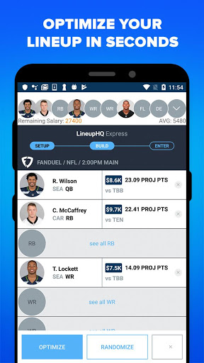 RotoGrinders - DFS Strategy, Lineups, and Alerts screenshot 6