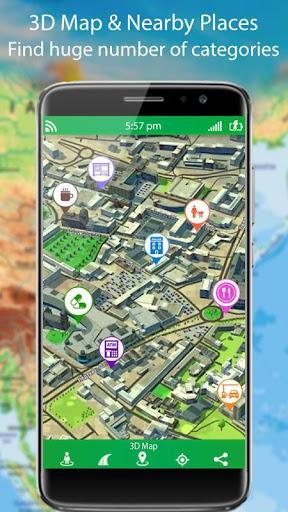 التجوّل الافتراضي المباشر وملاحةGPSوخرائطالأرض2021 8 تصوير الشاشة