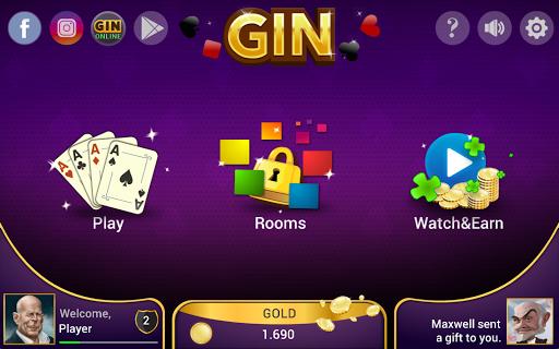 Gin Rummy - Offline Free Card Games 16 تصوير الشاشة