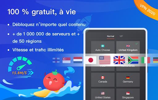 Free VPN Tomato | Un VPN gratuit ultra rapide screenshot 6