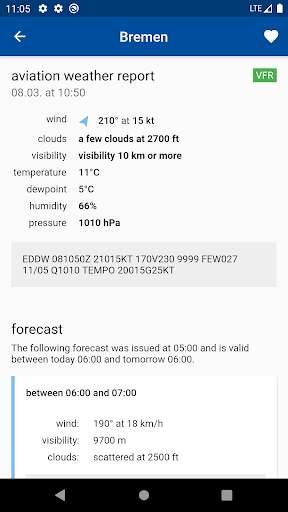 Aviation weather (METAR / TAF) screenshot 2