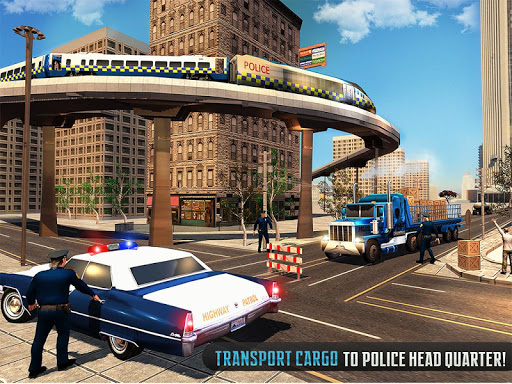 Police Train Shooter Gunship Attack : Train Games screenshot 12