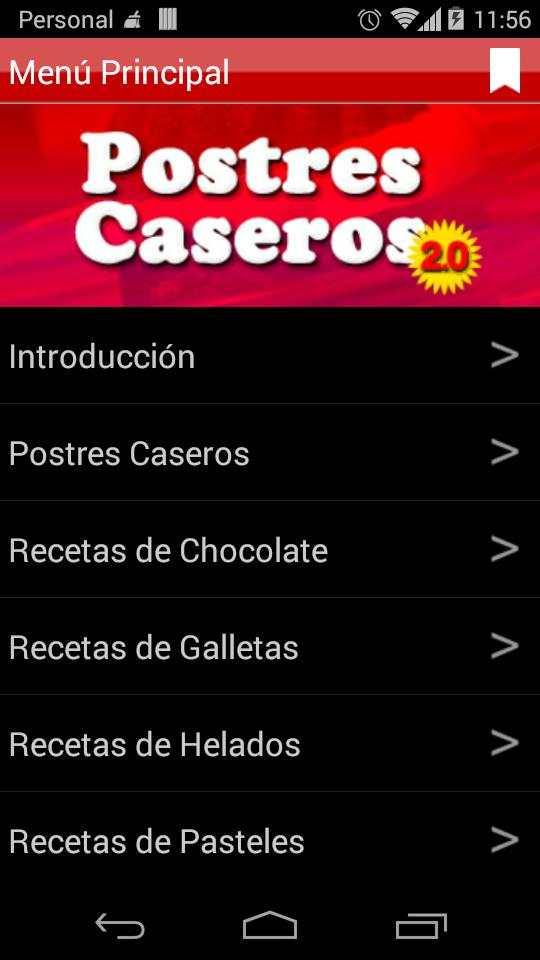 Postres Caseros 2.0 screenshot 2