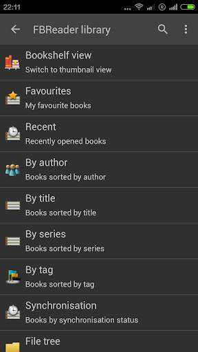 FBReader: Favorite Book Reader screenshot 1