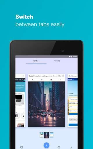 Opera browser with free VPN screenshot 12