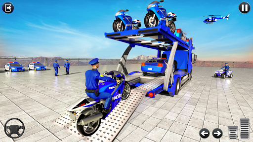 Police Bike Transport Truck screenshot 7
