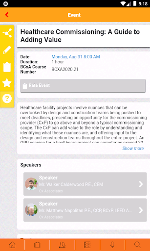 BCxA Conferences screenshot 3