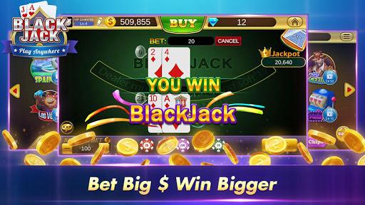Blackjack 21 Free - Casino Black Jack Trainer Game 5 تصوير الشاشة