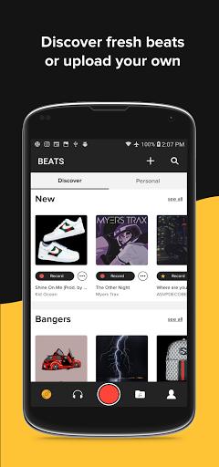 OffTop Studio: Record, Rap & Sing over Beats screenshot 1