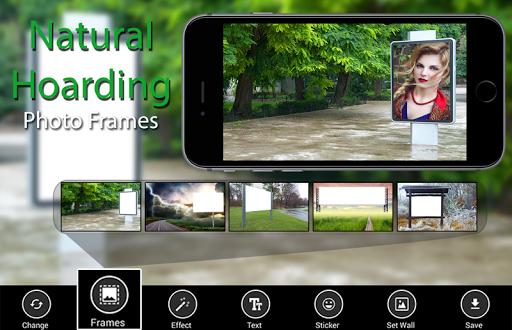 Natural Hoarding Photo Frames - green beauty style 1 تصوير الشاشة