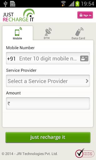 Mobile, DTH, Datacard Recharge screenshot 1
